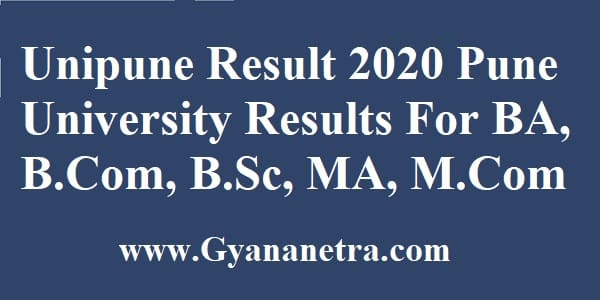 Unipune Result Pune University Semester Exam
