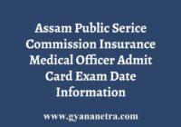 APSC IMO Admit Card