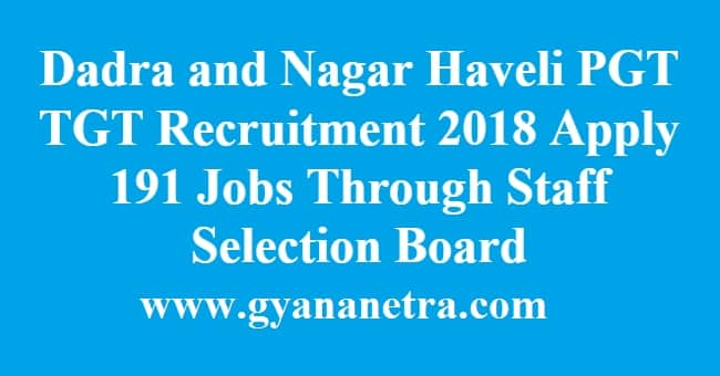 Dadra and Nagar Haveli PGT TGT Recruitment