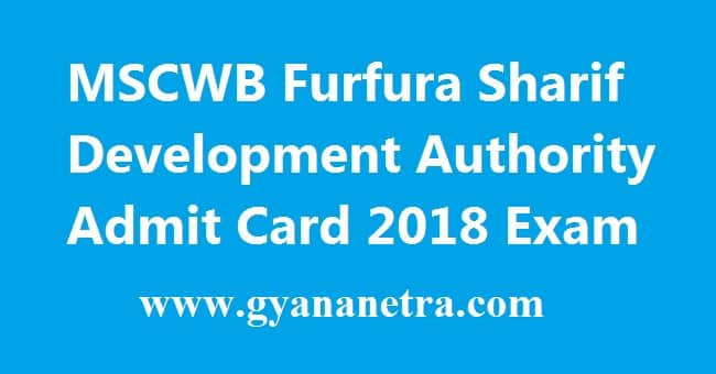 Furfura Sharif Development Authority Admit Card