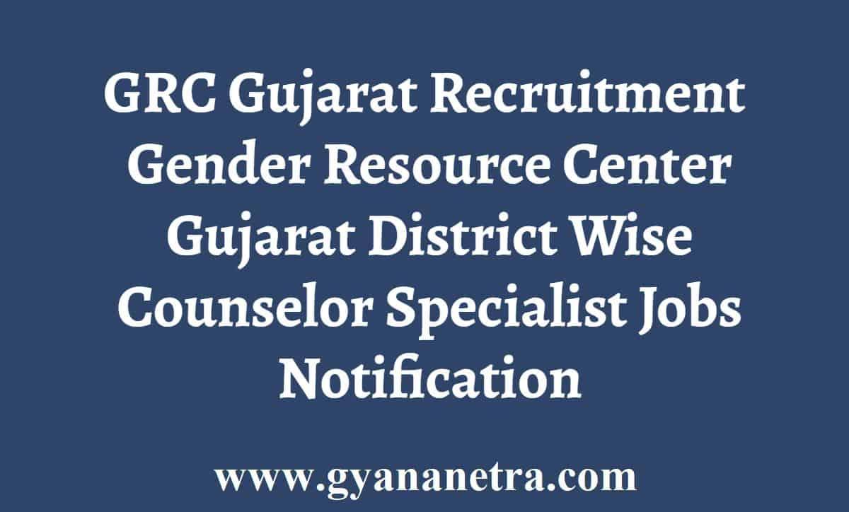GRC Gujarat Jobs