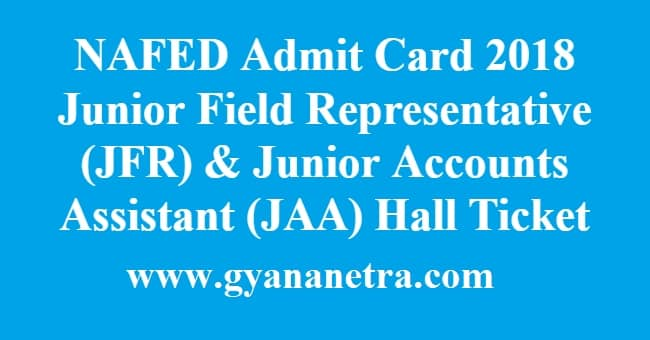NAFED Admit Card Hall Ticket