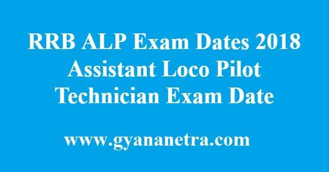 RRB ALP Exam Dates Techician