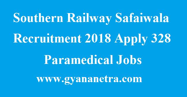 Southern Railway Safaiwala Recruitment