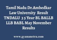 TNDALU Degree Exam Results
