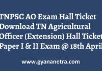 TNPSC AO Hall Ticket Paper I & II Exam Dates