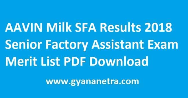 AAVIN Milk SFA Results