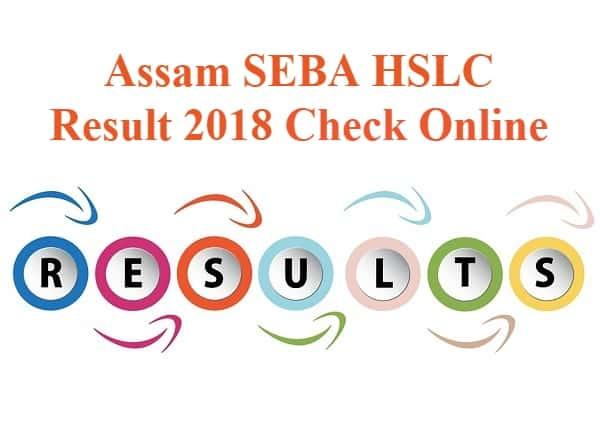 Assam SEBA HSLC Result 2018