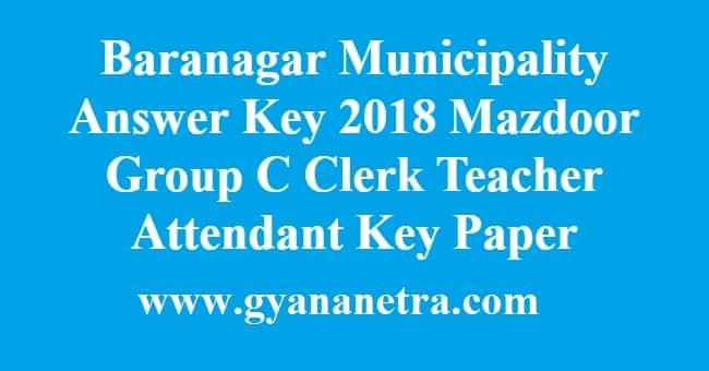 Baranagar Municipality Answer Key