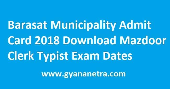Barasat Municipality Admit Card