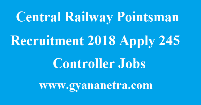 Central Railway Pointsman Recruitment
