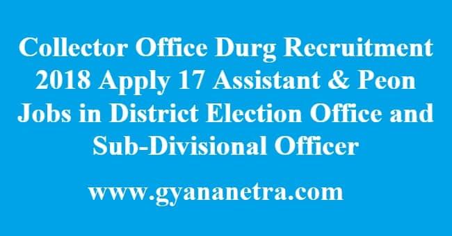 Collector Office Durg Recruitment