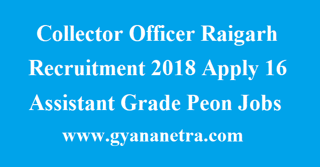 Collector Office Raigarh Assistant Grade III Recruitment