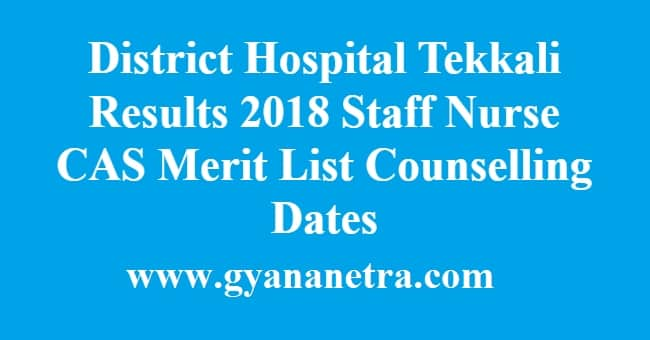 District Hospital Tekkali Results