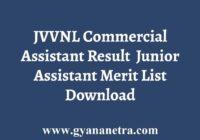 JVVNL JA Commercial Assistant Result