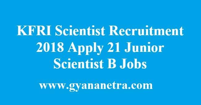 KFRI Scientist Recruitment