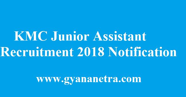 KMC Junior Assistant Recruitment