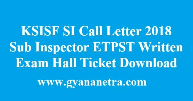 KSISF SI Call Letter
