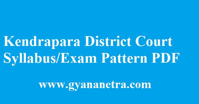 Kendrapara District Court Syllabus 2018