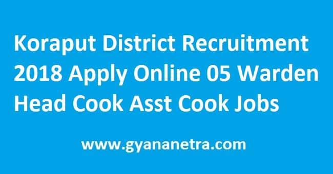Koraput District Recruitment