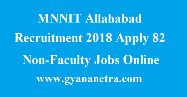 MNNIT Allahabad Recruitment