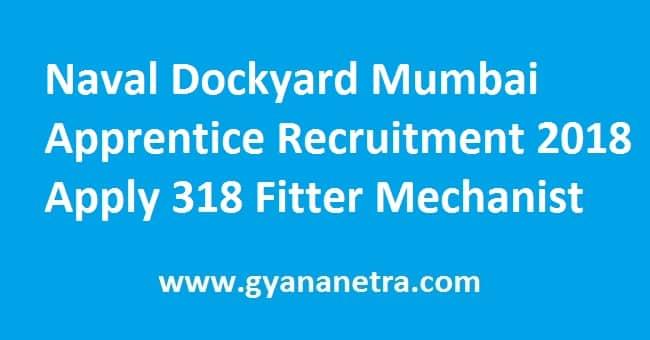Naval Dockyard Mumbai Apprentice Recruitment