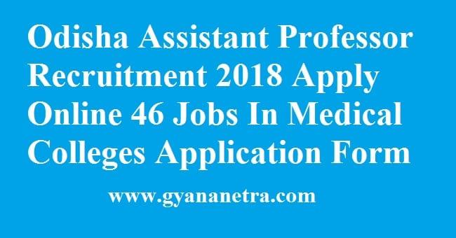 Odisha Assistant Professor Recruitment