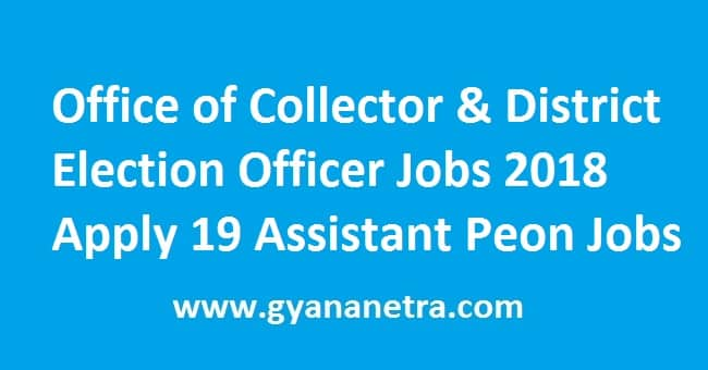 Office of Collector & District Election Officer Jobs