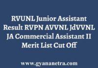 RVUNL Junior Assistant Commercial Asst Result
