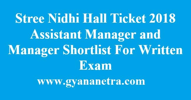 Stree Nidhi Hall Ticket