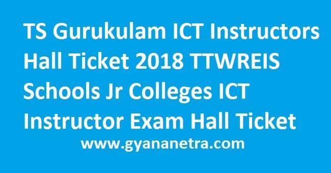 TS Gurukulam ICT Instructors Hall Ticket