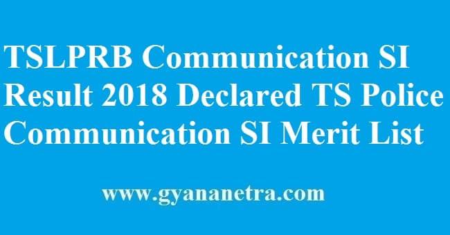 TSLPRB Communication SI Result