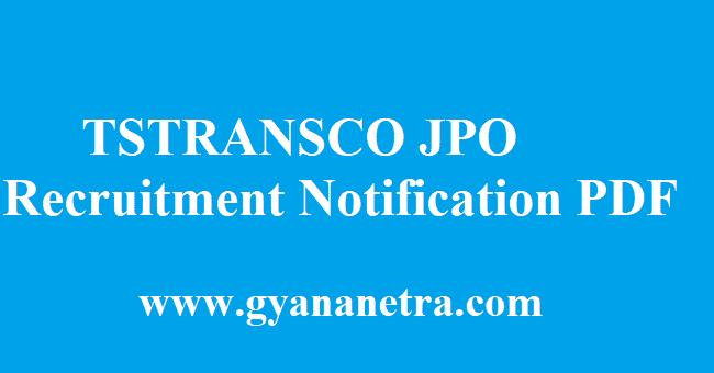 TSTRANSCO JPO Recruitment 2018