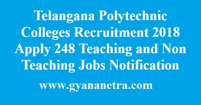 Telangana Polytechnic Colleges Recruitment