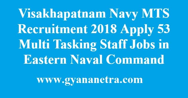 Visakhapatnam Navy MTS Recruitment