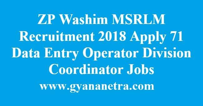 ZP Washim MSRLM Recruitment