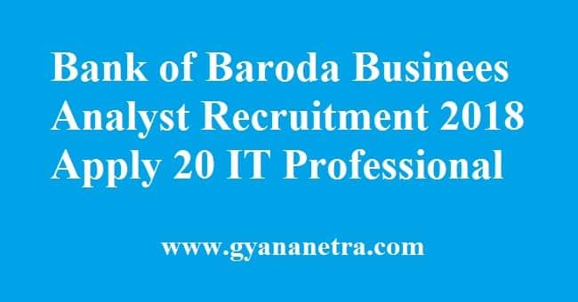 Bank of Baroda IT Professionals Recruitment