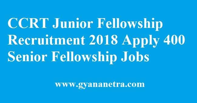 CCRT Junior Fellowship Recruitment