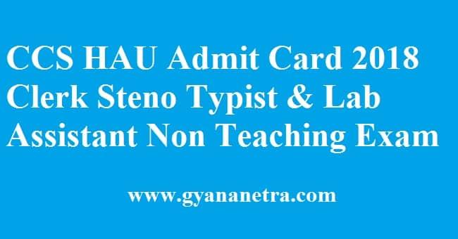 CCS HAU Admit Card