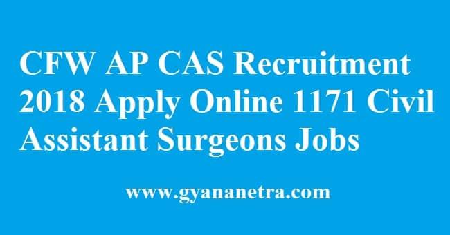 CFW AP CAS Recruitment