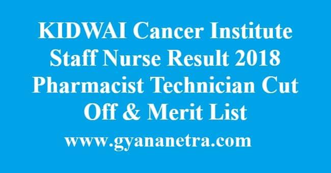 KIDWAI Cancer Institute Staff Nurse Result
