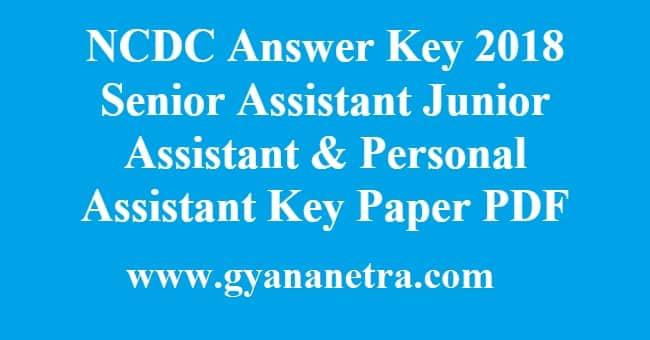 NCDC Answer Key