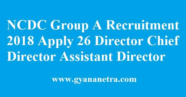 NCDC Group A Recruitment