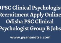 OPSC Clinical Psychologist Recruitment Apply Online