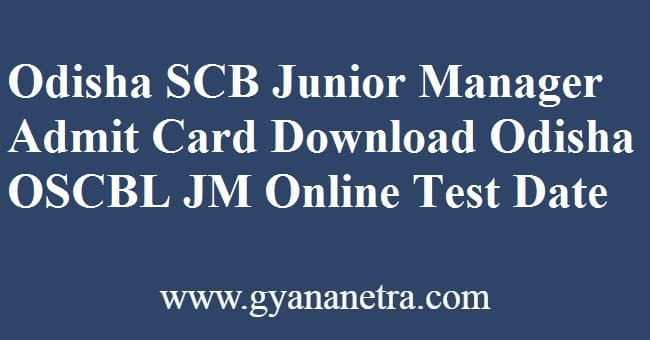 Odisha SCB Junior Manager Admit Card Download Online