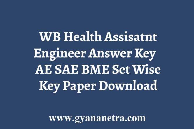 WB Health Engineer Exam Answer Key