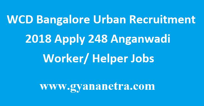 WCD Bangalore Urban Recruitment