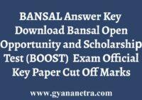 BANSAL BOOST Answer Key