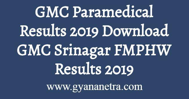 GMC Paramedical Results