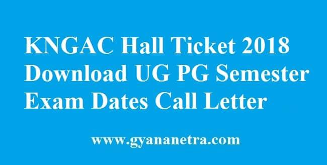 KNGAC Hall Ticket